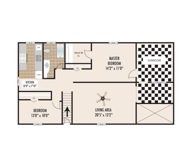 Mountain Manor Apartments For Rent in Springfield, NJ 2bed 1bath