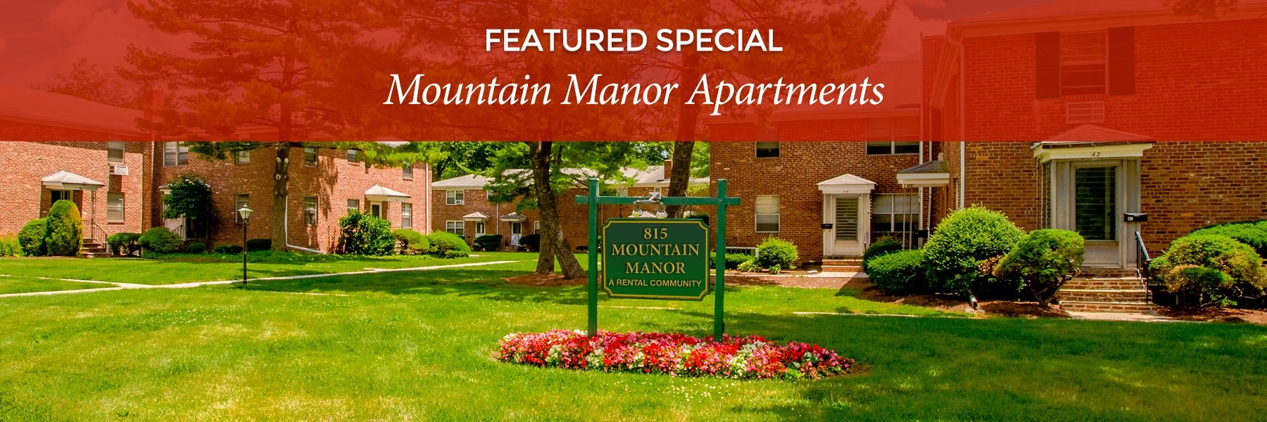 Mountain Manor Apartments For Rent in Springfield, NJ Specials